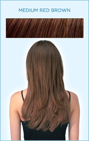 Secret Extensions Hair Color -- Medium Red Brown