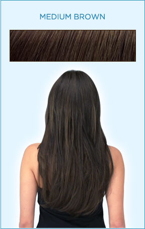 Secret Extensions Hair Color -- Medium Brown