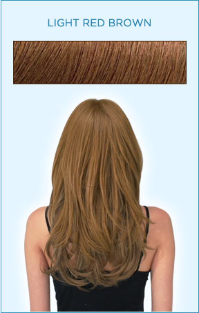 Secret Extensions Hair Color -- Light Red Brown