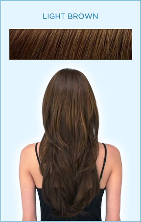 Secret Extensions Hair Color -- Light Brown